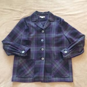 Pendleton Plaid 49er Jacket 100% Wool